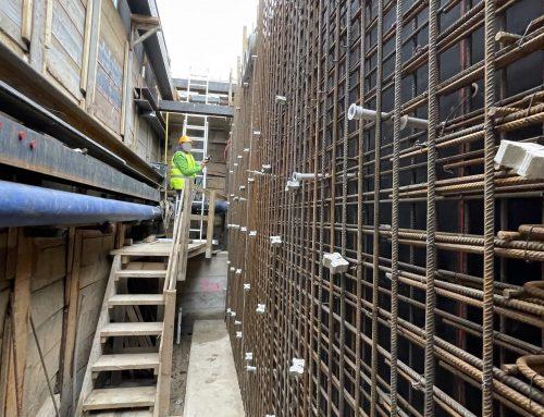 Bau einer Abwasserpumpstation in Geisig